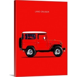 Large Gallery-Wrapped Canvas Wall Art Print 18 x 24 entitled Toyota Land Cruiser FJ40 1977 found on Bargain Bro India from Great Big Canvas - Dynamic for $224.99