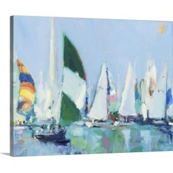 Large Solid-Faced Canvas Print Wall Art Print 30 x 24 entitled Parking Lot