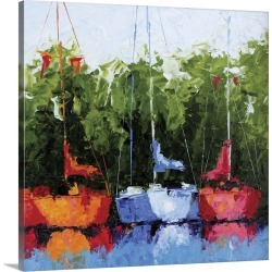 Large Solid-Faced Canvas Print Wall Art Print 20 x 20 entitled A Day of Reflections