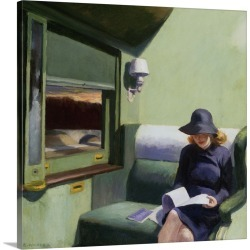Large Gallery-Wrapped Canvas Wall Art Print 18 x 20 entitled Compartment C, Car 293 By Edward Hopper found on Bargain Bro India from Great Big Canvas - Dynamic for $204.99