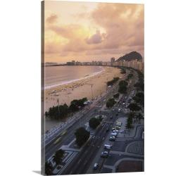 Large Gallery-Wrapped Canvas Wall Art Print 20 x 30 entitled Rio de Janeiro, Brazil, Copacabana Beach