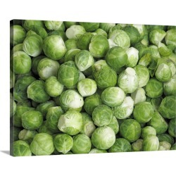 Large Solid-Faced Canvas Print Wall Art Print 40 x 30 entitled Fresh brussels sprouts