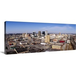 Large Gallery-Wrapped Canvas Wall Art Print 36 x 14 entitled Aerial view of a city, Birmingham, Alabama