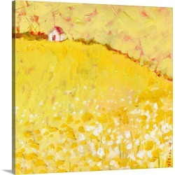 Large Solid-Faced Canvas Print Wall Art Print 20 x 20 entitled Little House on a Hill