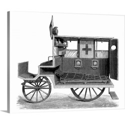 Large Solid-Faced Canvas Print Wall Art Print 30 x 24 entitled City ambulance, 19th century