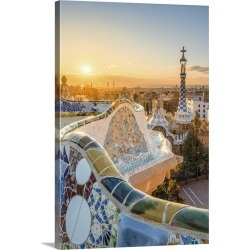 Large Solid-Faced Canvas Print Wall Art Print 20 x 30 entitled Barcelona, Catalonia, Spain. Unique Antoni Gaudi's architec... found on Bargain Bro India from Great Big Canvas - Dynamic for $169.99