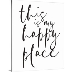Large Gallery-Wrapped Canvas Wall Art Print 16 x 20 entitled Family Quotes - Happy Place found on Bargain Bro India from Great Big Canvas - Dynamic for $134.99
