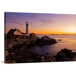 Large Gallery-Wrapped Canvas Wall Art Print 30 x 20 entitled Maine, Portland, Atlantic ocean, New England, The Portland He...