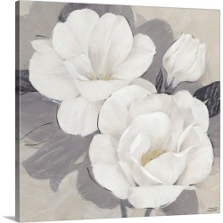 Large Solid-Faced Canvas Print Wall Art Print 20 x 20 entitled Unfolding Blossoms Detail I