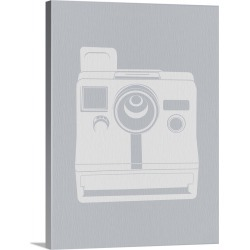 Large Gallery-Wrapped Canvas Wall Art Print 23 x 30 entitled White Polaroid Camera