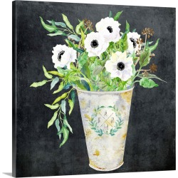 Large Gallery-Wrapped Canvas Wall Art Print 16 x 16 entitled Modern Farmhouse Vase found on Bargain Bro India from Great Big Canvas - Dynamic for $129.99