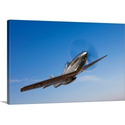 Large Gallery-Wrapped Canvas Wall Art Print 24 x 16 entitled A P 51D Mustang in flight