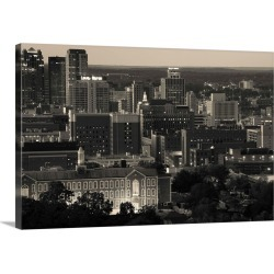 Large Gallery-Wrapped Canvas Wall Art Print 24 x 16 entitled Skyscrapers in a city, Birmingham, Alabama
