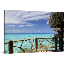 Large Solid-Faced Canvas Print Wall Art Print 30 x 20 entitled Kia Ora Resort, Rangiroa, Tuamotu Archipelago, French Polyn... found on Bargain Bro Philippines from Great Big Canvas - Dynamic for $174.99