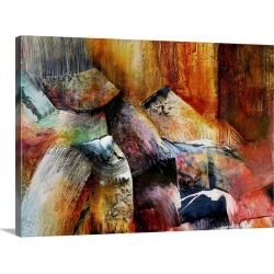 Large Gallery-Wrapped Canvas Wall Art Print 24 x 17 entitled Ancient Hills