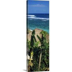 Large Solid-Faced Canvas Print Wall Art Print 16 x 48 entitled Huts on the beach, Bingin Beach, Bali, Indonesia found on Bargain Bro India from Great Big Canvas - Dynamic for $209.99