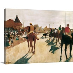 Large Gallery-Wrapped Canvas Wall Art Print 24 x 18 entitled The Parade, or Race Horses in Front of the Stands found on Bargain Bro India from Great Big Canvas - Dynamic for $234.99