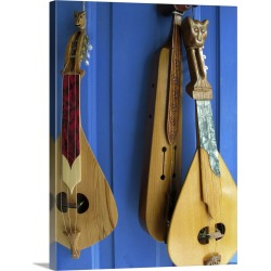 Large Solid-Faced Canvas Print Wall Art Print 30 x 40 entitled Handmade Musical Instruments, Chania, Crete, Greece