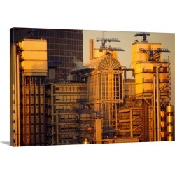 Large Solid-Faced Canvas Print Wall Art Print 30 x 20 entitled Lloyds Building, City of London, London, England, UK