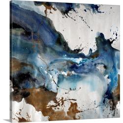 Large Solid-Faced Canvas Print Wall Art Print 20 x 20 entitled Splashing Elegance III