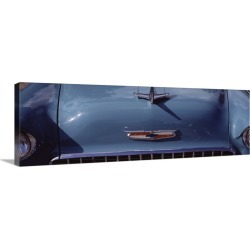 Large Gallery-Wrapped Canvas Wall Art Print 36 x 13 entitled Close-up of a hood ornament of a 57 Chevy car found on Bargain Bro India from Great Big Canvas - Dynamic for $309.99