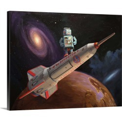 Large Solid-Faced Canvas Print Wall Art Print 30 x 24 entitled Rocket Surfer