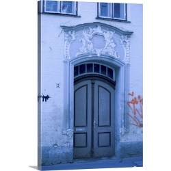 Large Solid-Faced Canvas Print Wall Art Print 20 x 30 entitled Historic door, Lubeck, Germany