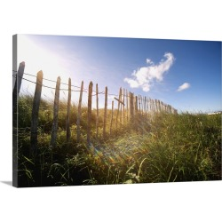 Large Gallery-Wrapped Canvas Wall Art Print 30 x 20 entitled Fence In A Field