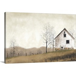 Large Solid-Faced Canvas Print Wall Art Print 30 x 20 entitled Lonely Barn