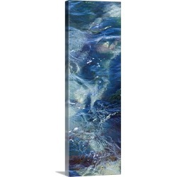 Large Solid-Faced Canvas Print Wall Art Print 12 x 36 entitled Tide Pool III