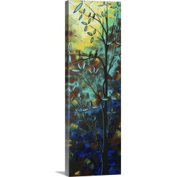 Large Solid-Faced Canvas Print Wall Art Print 12 x 36 entitled Wind Willow