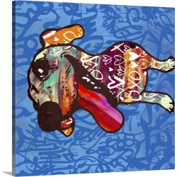 Large Solid-Faced Canvas Print Wall Art Print 20 x 20 entitled Happy Barks!