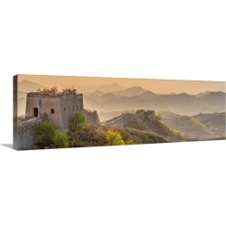 Large Gallery-Wrapped Canvas Wall Art Print 30 x 10 entitled China,  Beijing Municipality, Great Wall of China Gubeikou to... found on Bargain Bro India from Great Big Canvas - Dynamic for $134.99