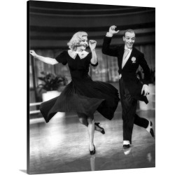 Large Gallery-Wrapped Canvas Wall Art Print 16 x 20 entitled Ginger Rogers, Fred Astaire, Swing Time found on Bargain Bro India from Great Big Canvas - Dynamic for $189.99