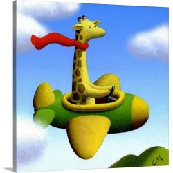 Large Solid-Faced Canvas Print Wall Art Print 20 x 20 entitled Frequent Flier No. 2