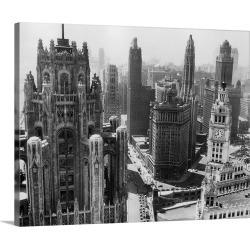 Large Gallery-Wrapped Canvas Wall Art Print 20 x 16 entitled Chicago Skyscrapers In The Early 20th Century found on Bargain Bro India from Great Big Canvas - Dynamic for $189.99