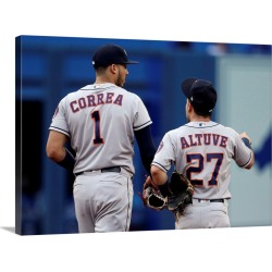 Large Gallery-Wrapped Canvas Wall Art Print 24 x 17 entitled Houston Astros vs. Toronto Blue Jays