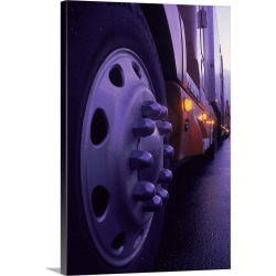 Large Gallery-Wrapped Canvas Wall Art Print 16 x 24 entitled Close-up of truck wheels found on Bargain Bro India from Great Big Canvas - Dynamic for $214.99