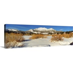 Large Gallery-Wrapped Canvas Wall Art Print 30 x 10 entitled Ski resort, Mammoth Mountain Ski Area, Mammoth Lakes, Mono Co... found on Bargain Bro India from Great Big Canvas - Dynamic for $209.99