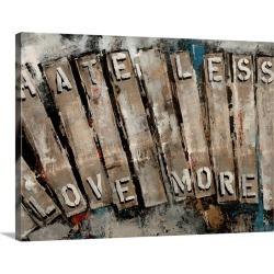 Large Gallery-Wrapped Canvas Wall Art Print 20 x 16 entitled Key Words II