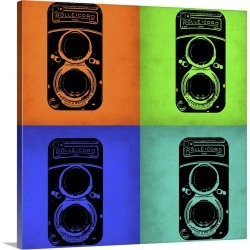 Large Gallery-Wrapped Canvas Wall Art Print 20 x 20 entitled Vintage Camera Pop Art I