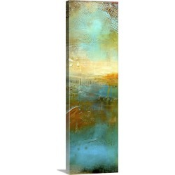 Large Solid-Faced Canvas Print Wall Art Print 12 x 36 entitled Urban Decay II