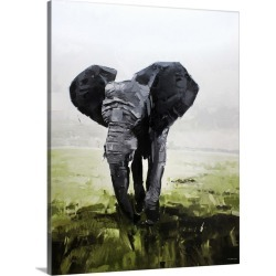Large Solid-Faced Canvas Print Wall Art Print 18 x 24 entitled Elephant South Africa