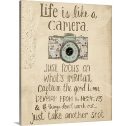 Large Solid-Faced Canvas Print Wall Art Print 24 x 30 entitled Life is like a camera