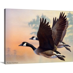 Large Gallery-Wrapped Canvas Wall Art Print 24 x 18 entitled Canada Geese