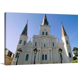 Large Solid-Faced Canvas Print Wall Art Print 30 x 20 entitled St. Louis cathedral, Jackson Square, New Orleans, Louisiana
