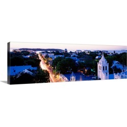 Large Gallery-Wrapped Canvas Wall Art Print 36 x 11 entitled Florida, Key West, Duval Street