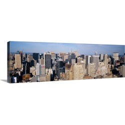 Large Solid-Faced Canvas Print Wall Art Print 48 x 16 entitled Midtown Manhattan New York NY