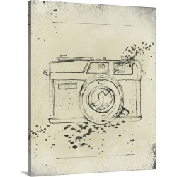 Large Gallery-Wrapped Canvas Wall Art Print 19 x 24 entitled Camera Drawing I