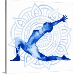 Large Solid-Faced Canvas Print Wall Art Print 20 x 20 entitled Yoga Flow II
